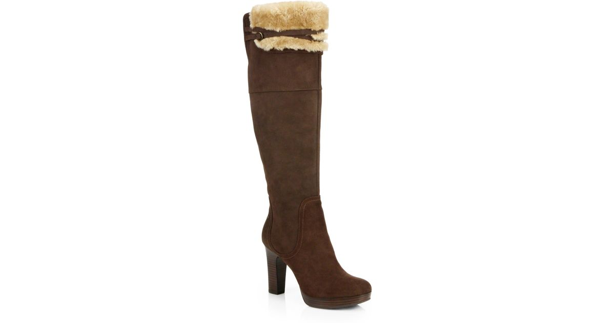 18feb2abcc4 UGG - Brown Ophira Suede Over-The-Knee Boots - Lyst