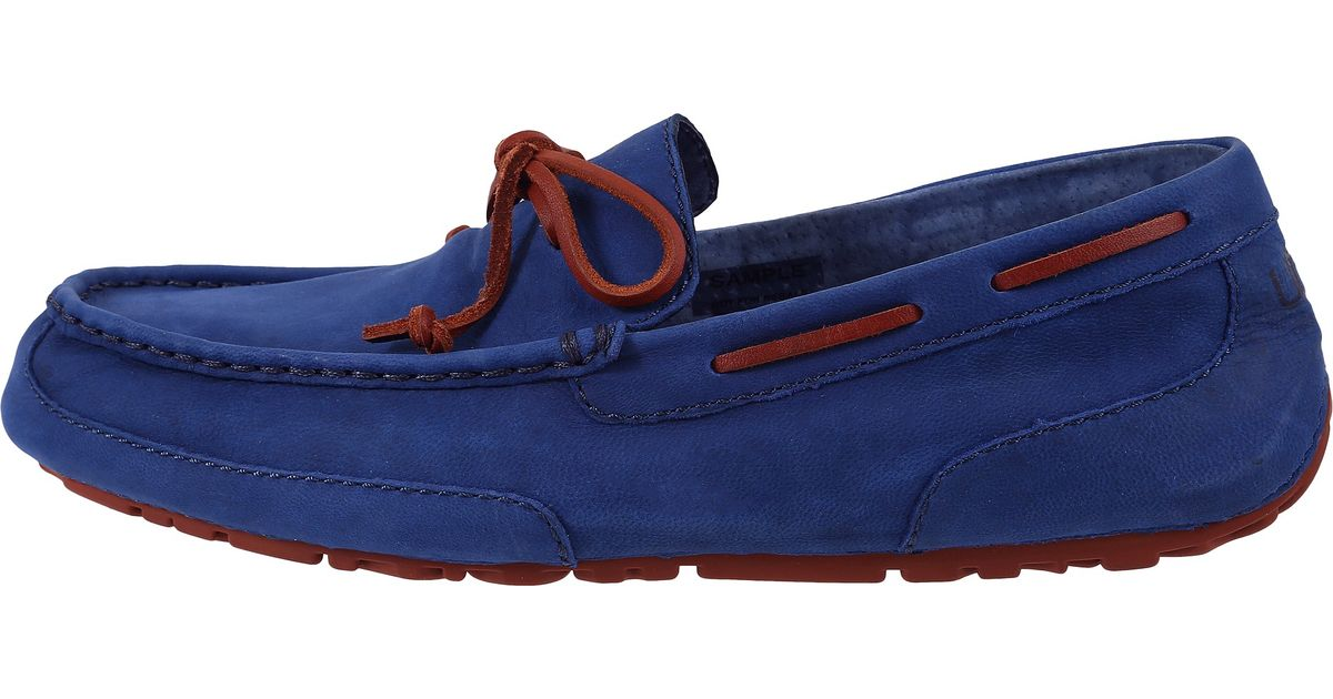 Mens Shoes UGG Chester Capra Racing Stripe Blue Leather