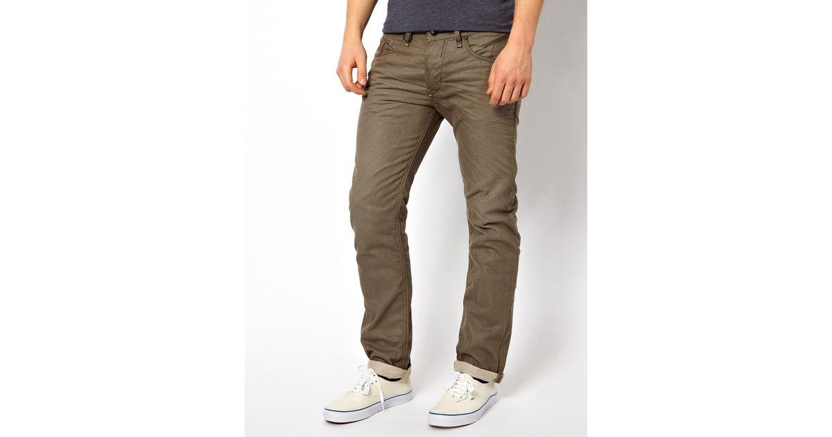 69281a66 DIESEL Jeans Belther Slim Fit Color Mutation in Natural for Men - Lyst