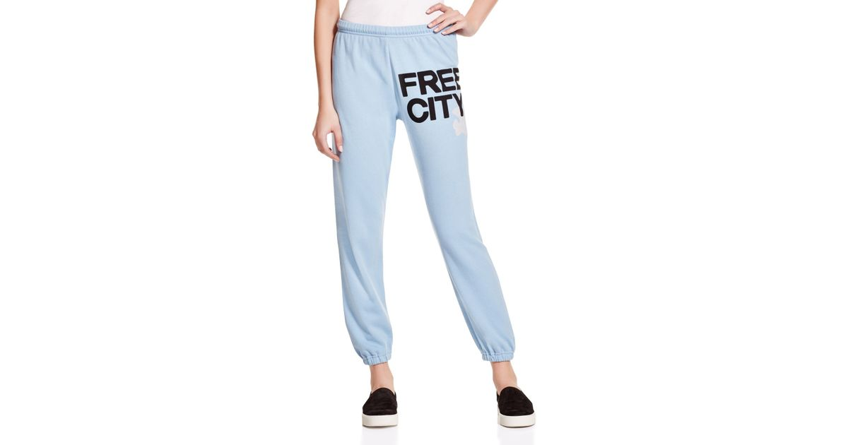 Lyst - FREE CITY Featherweight Sweatpants in Blue 59cae4bbfb9a