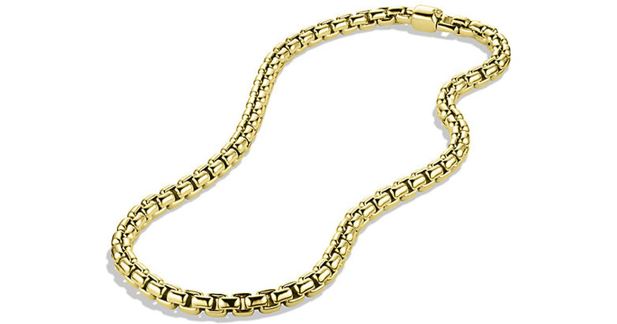 David Yurman 24 length small Box Chain necklace - Metallic 7zkkLC