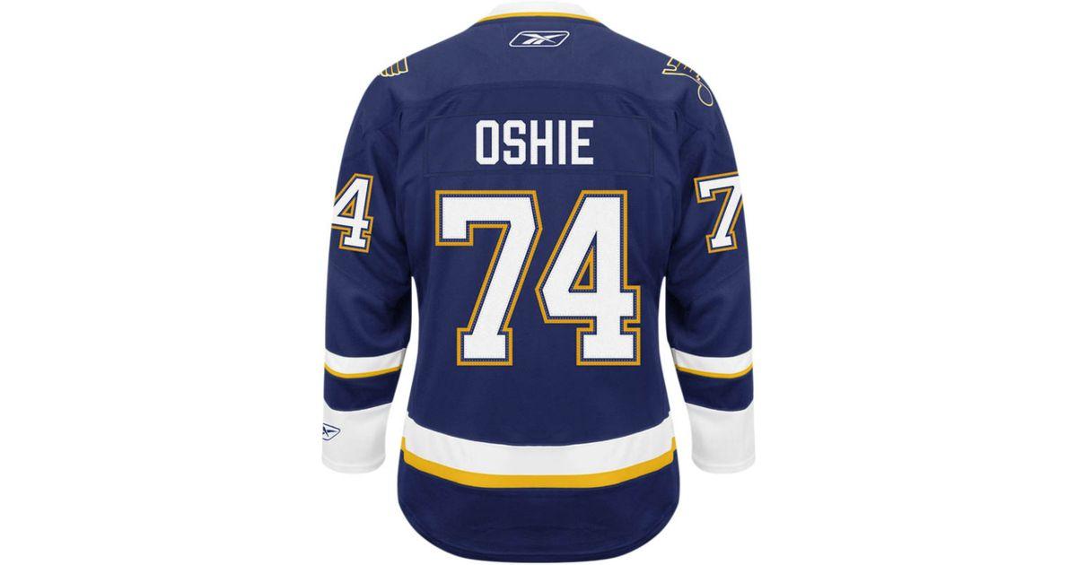 9f8b5f7fe05c Lyst - Reebok Men s Tj Oshie St. Louis Blues Premier Jersey in Blue for Men
