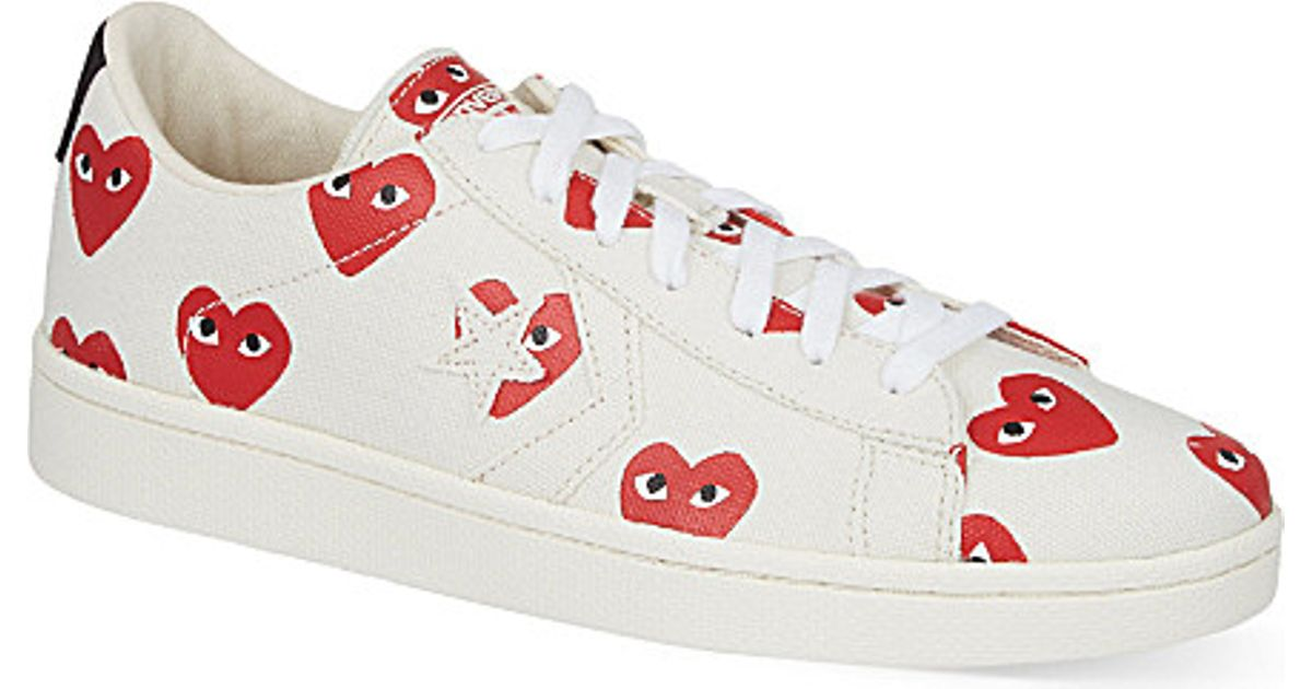 ce1b64d21a345 Comme des Garçons Cons Printed Canvas Low-Top Sneakers in White for Men -  Lyst