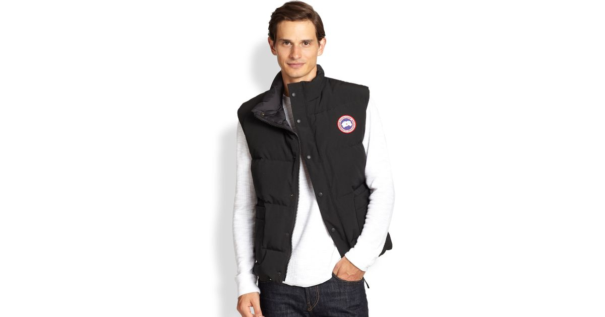 Canada Goose Freestyle Puffer Vest In Black For Men Lyst