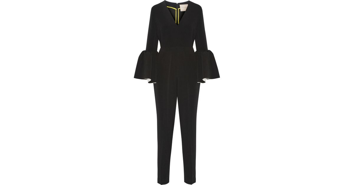 db5544cde962 ROKSANDA Margot Crepe Jumpsuit in Black - Lyst