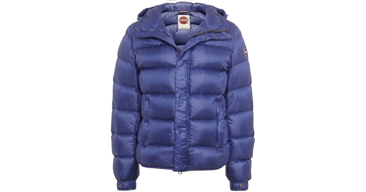 colmar down puffa jacket in blue for men lyst. Black Bedroom Furniture Sets. Home Design Ideas