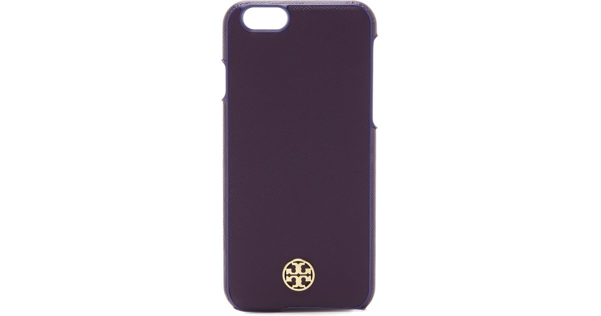 5ba334923 Lyst - Tory Burch Robinson Hardshell Iphone 6   6s Case - Rose Gold in  Purple