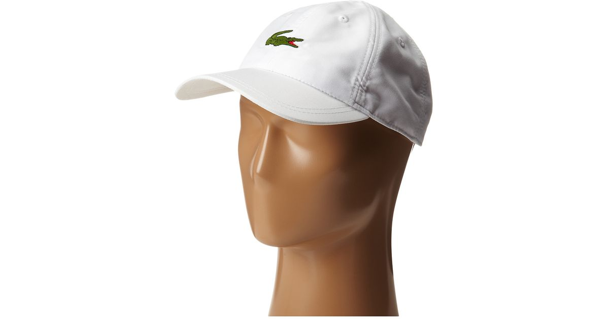 Lyst - Lacoste Poly 5 Cm Croc Sport Cap in White for Men 39b2cd1c6b56