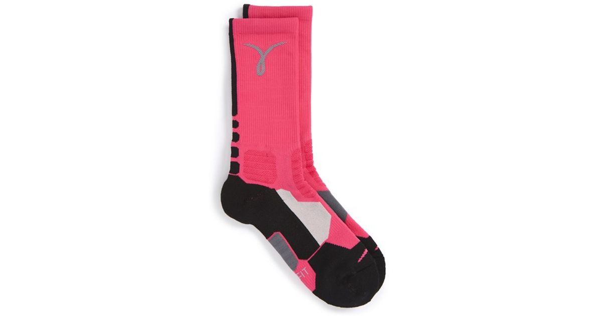 Nike  hyper Elite  Dri-fit Basketball Socks in Pink - Lyst 823c9620bc