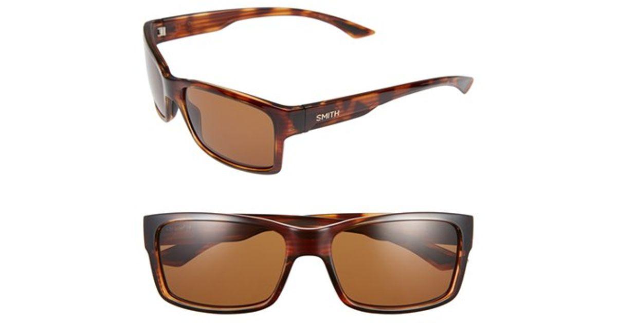 6ebffbf8c3 Lyst - Smith Optics  dolen  58mm Polarized Sunglasses - Havana  Brown in  Brown for Men