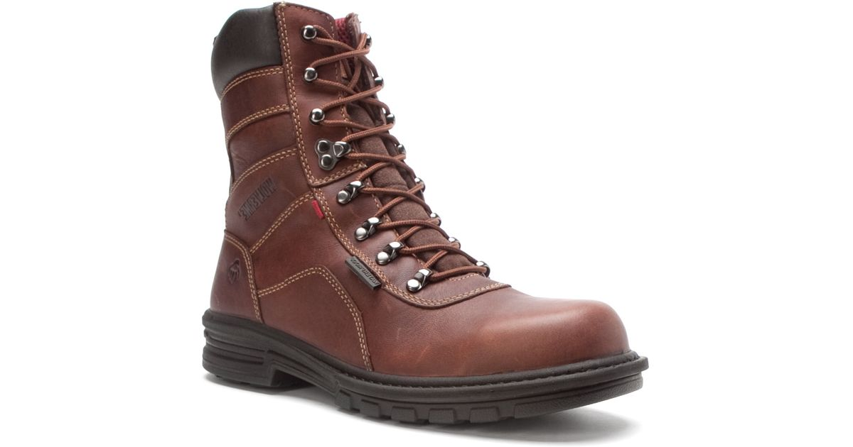 86c179a38fe Wolverine - Brown Meteor Fusion 180 Waterproof 8-inch St Eh Boot for Men -  Lyst
