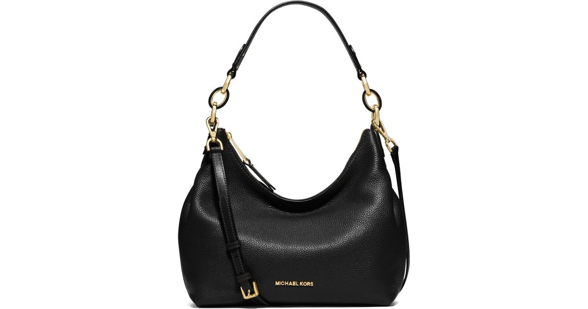 b1c15e1a6a342 Lyst - MICHAEL Michael Kors Isabella Medium Pebbled Leather Hobo Bag in  Brown