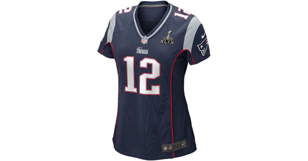 a18f1282 Nike - Blue Women'S Tom Brady New England Patriots Super Bowl Xlix Patch  Jersey - Lyst