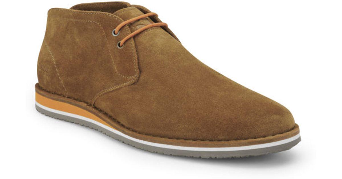 f6e3229ec4d0 BOSS Orange Mens Voluo Suede Boots in Brown for Men - Lyst