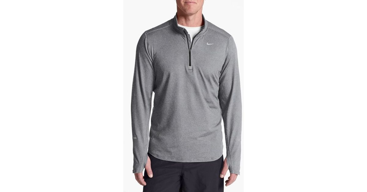 bfbe17651 Nike 'element' Dri-fit Half Zip Running Top in Gray for Men - Lyst