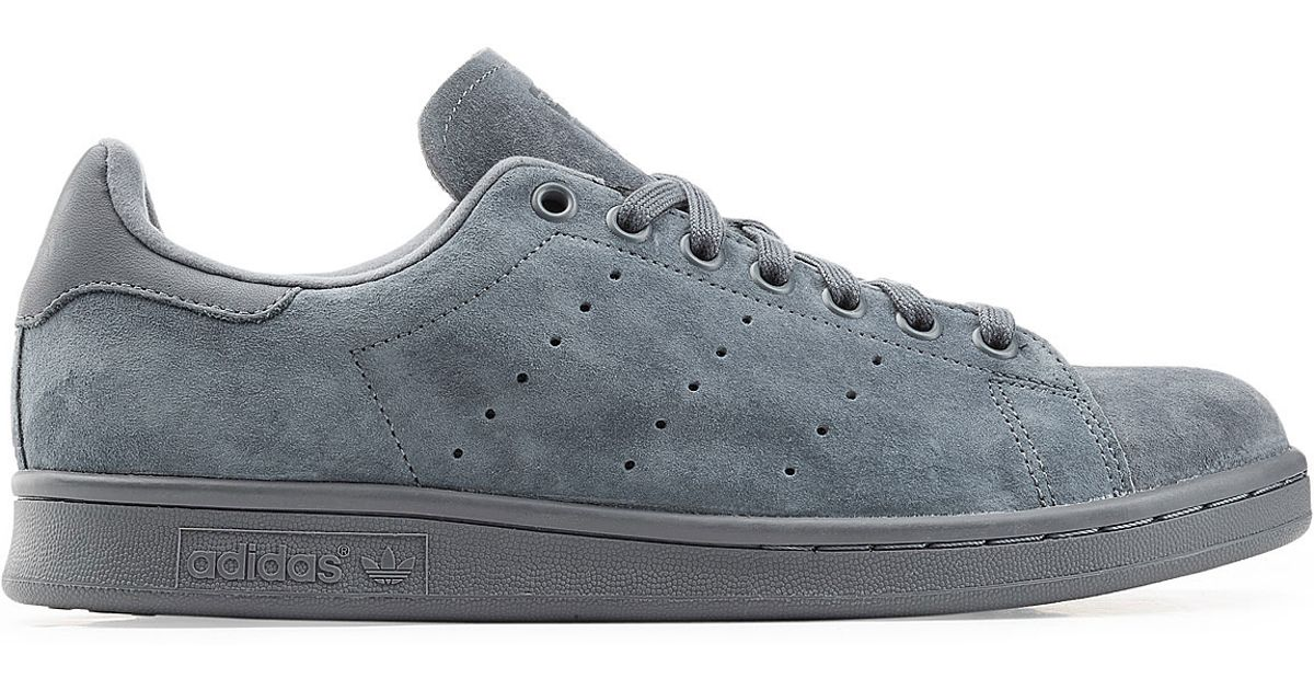 adidas originals stan smith suede sneakers blue in blue for men lyst. Black Bedroom Furniture Sets. Home Design Ideas