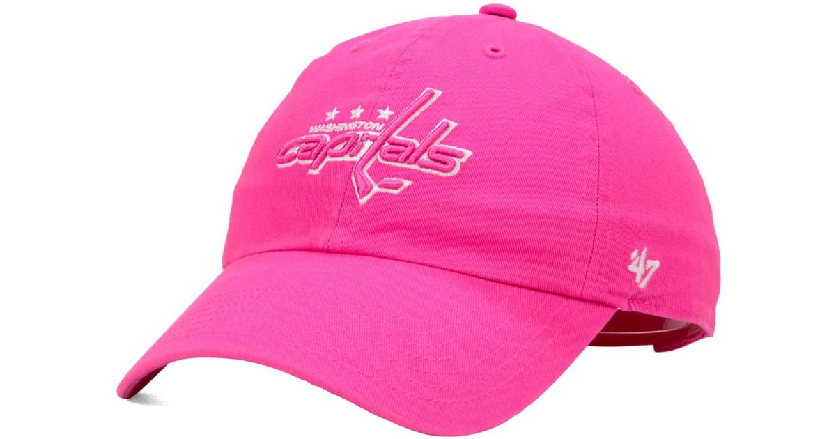 classic fit c2ee4 a3894 47 Brand Girls  Washington Capitals Clean Up Cap in Pink for Men - Lyst