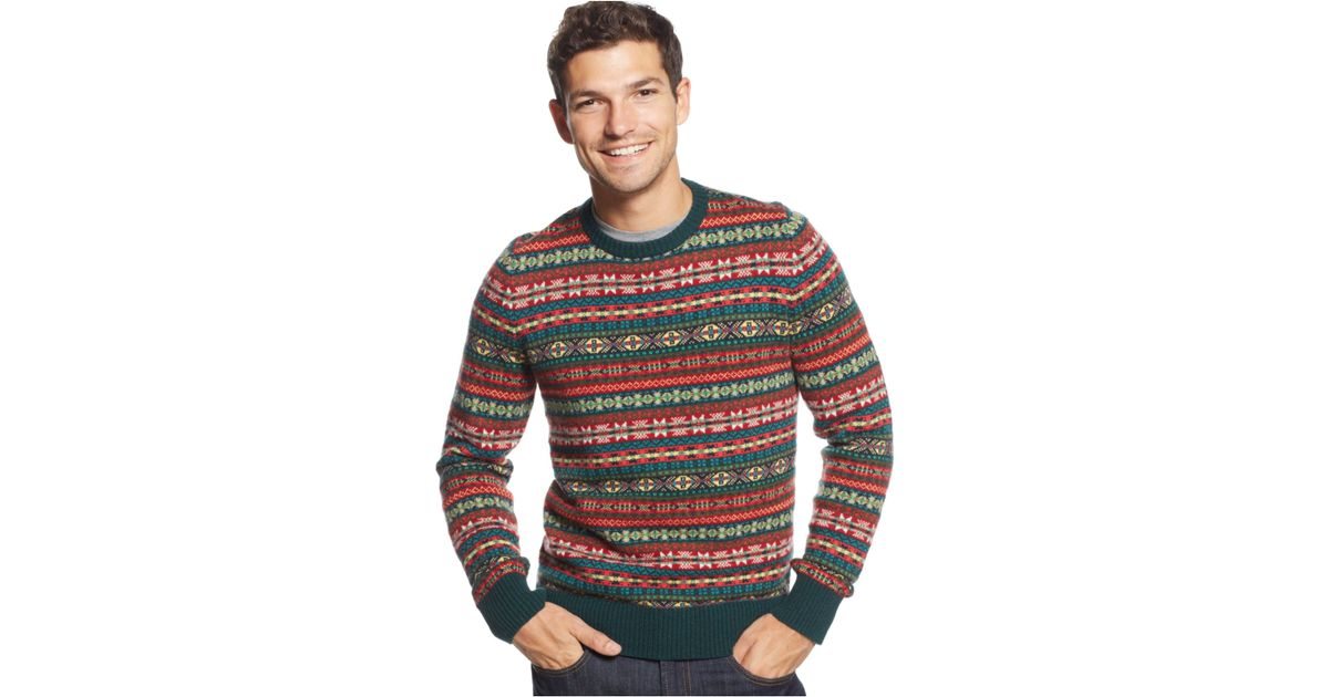 Lyst - Tommy hilfiger Knox Fair Isle Crew-Neck Sweater for Men