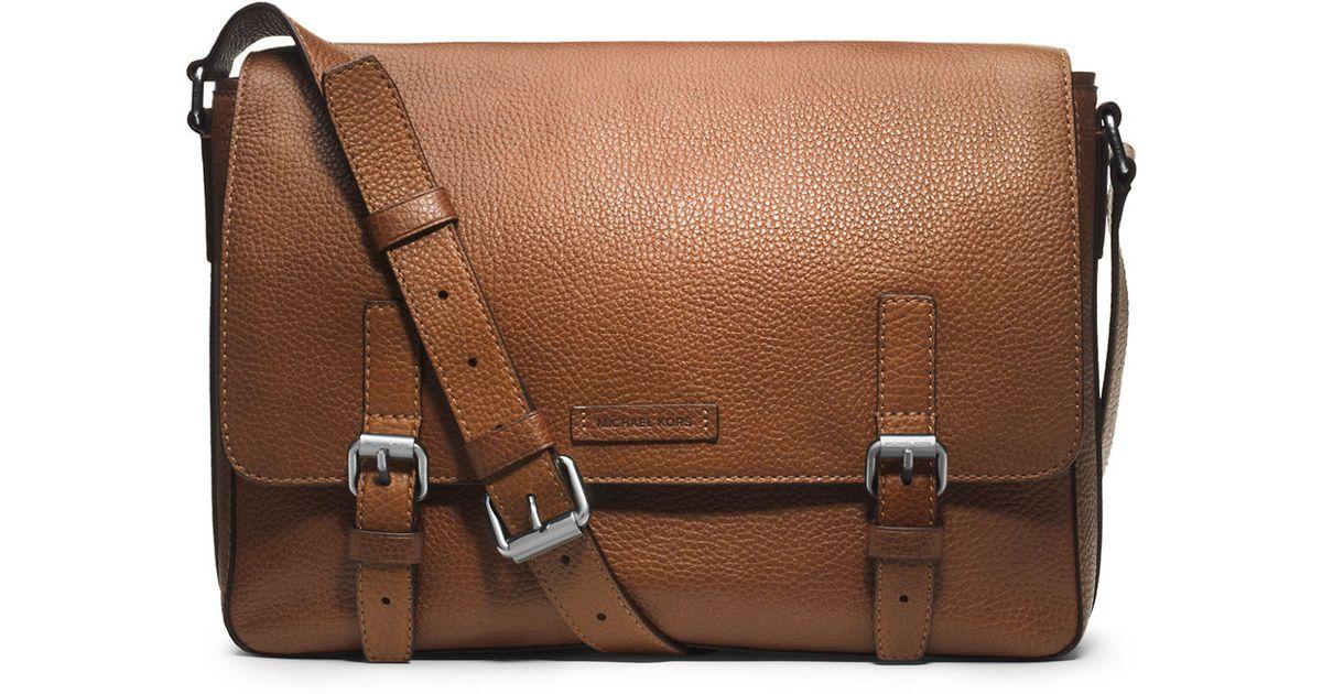b40d59895bc1 Michael Kors Bryant Leather Messenger Bag in Brown for Men - Lyst
