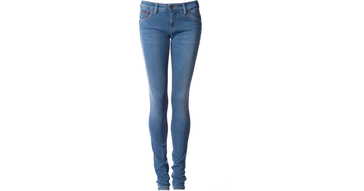 tommy hilfiger sophie skinny jeans in blue save 51 lyst. Black Bedroom Furniture Sets. Home Design Ideas