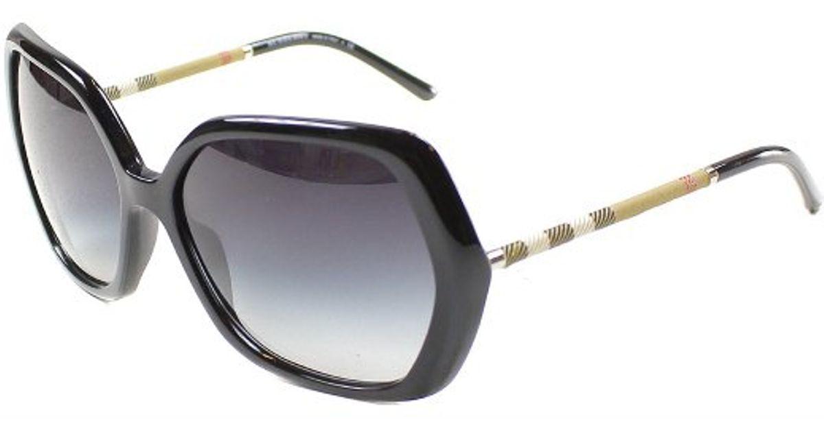 820bd2ec41d3 Lyst - Burberry Be4122 30018G Black Sunglasses Grey Gradient Lens in Gray
