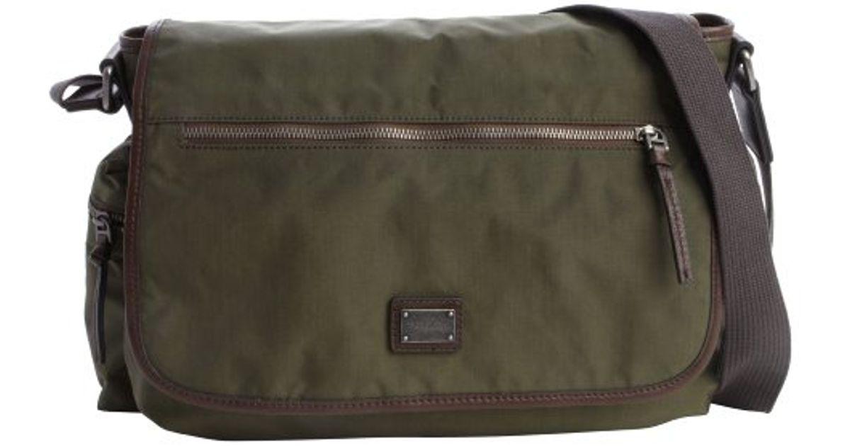 0a7cebe50cda Lyst - Dolce   Gabbana Deep Green Nylon Trimmed Messenger Bag in Green for  Men
