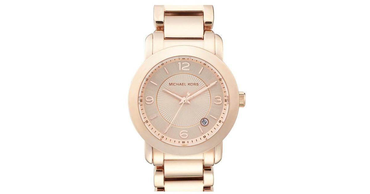 343a758d542f Lyst - MICHAEL Michael Kors Michael Kors  janey  Bracelet Watch in Metallic