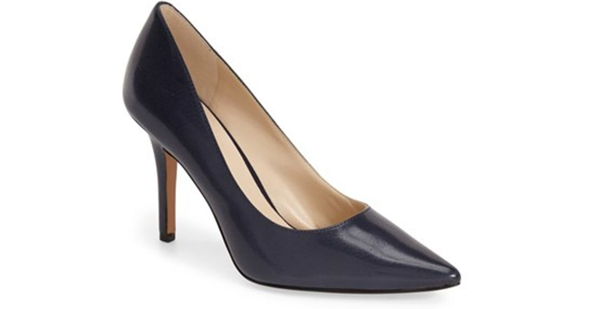 497b82f8d16 Lyst - Nine West  Jackpot  Pointy Toe Pump in Blue