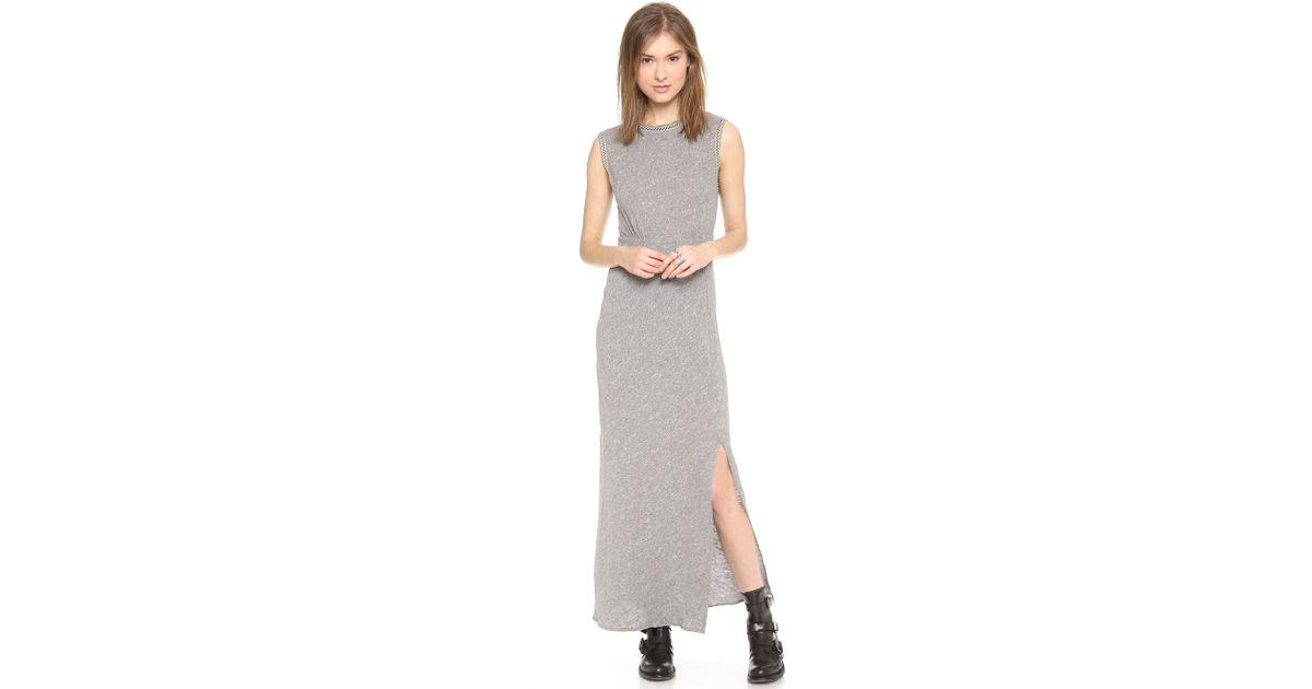 5de3330309ff8 Free People Sabrina Maxi Dress in Gray - Lyst