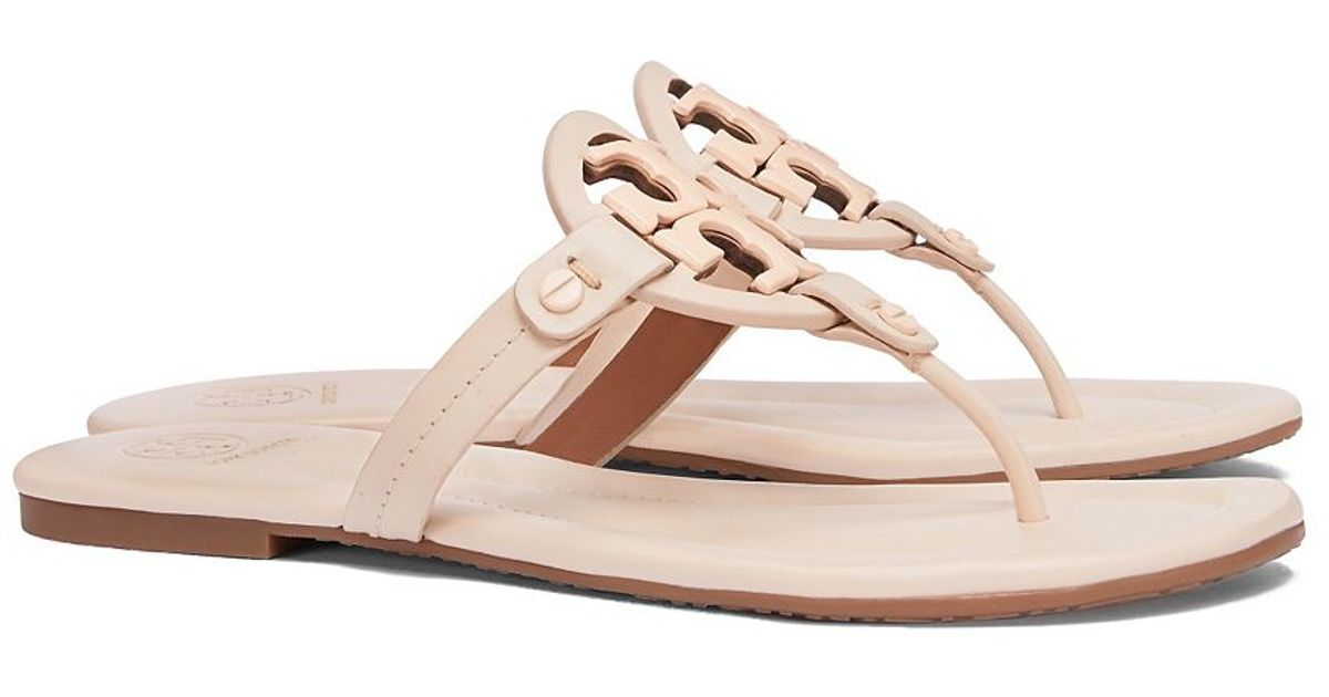 d33fad191 Lyst - Tory Burch Miller Leather Sandals in Pink