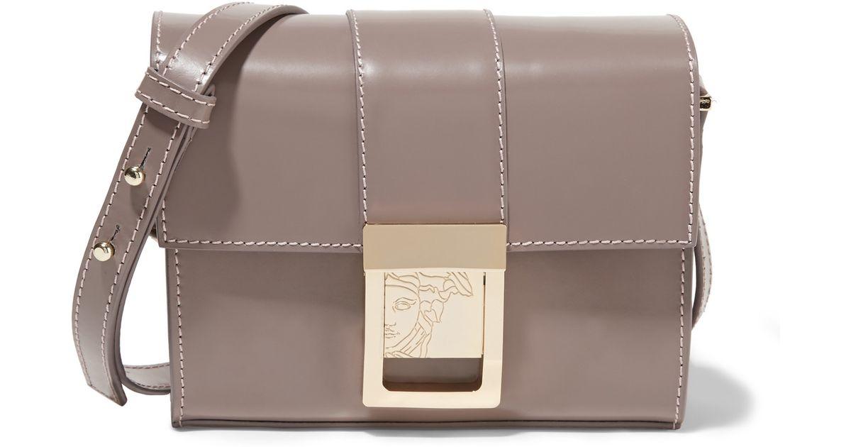 b9439cdb81c0 Lyst - Versace Patent-leather Shoulder Bag