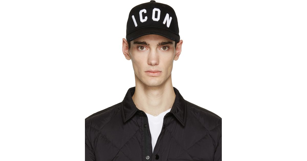 5bf7f5918fe2 Lyst - DSquared² Black Icon Cap in Black for Men