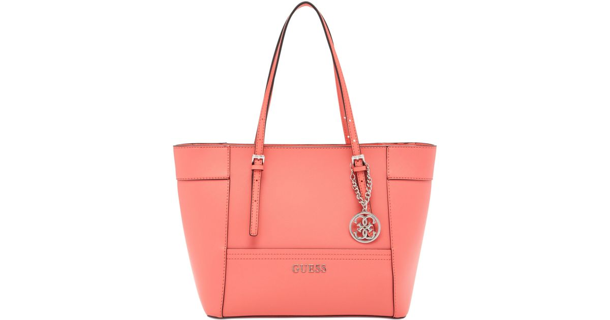 2d0b9db05576 Lyst - Guess Delaney Small Classic Tote in Pink