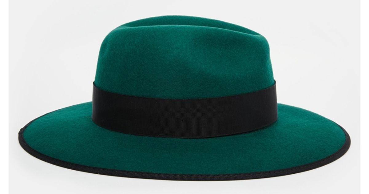 Lyst - Christys  Christys  Madison Wide Brim Wool Felt Fedora Hat in Green c557de0612b
