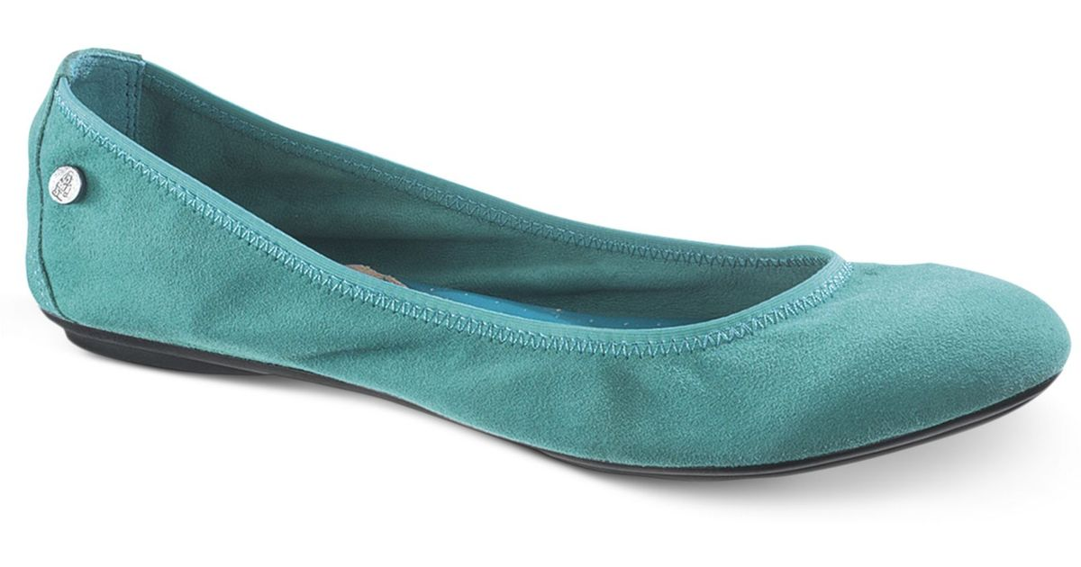 923ccf7098f623 Hush Puppies Womens Chaste Ballet Flats in Blue - Lyst