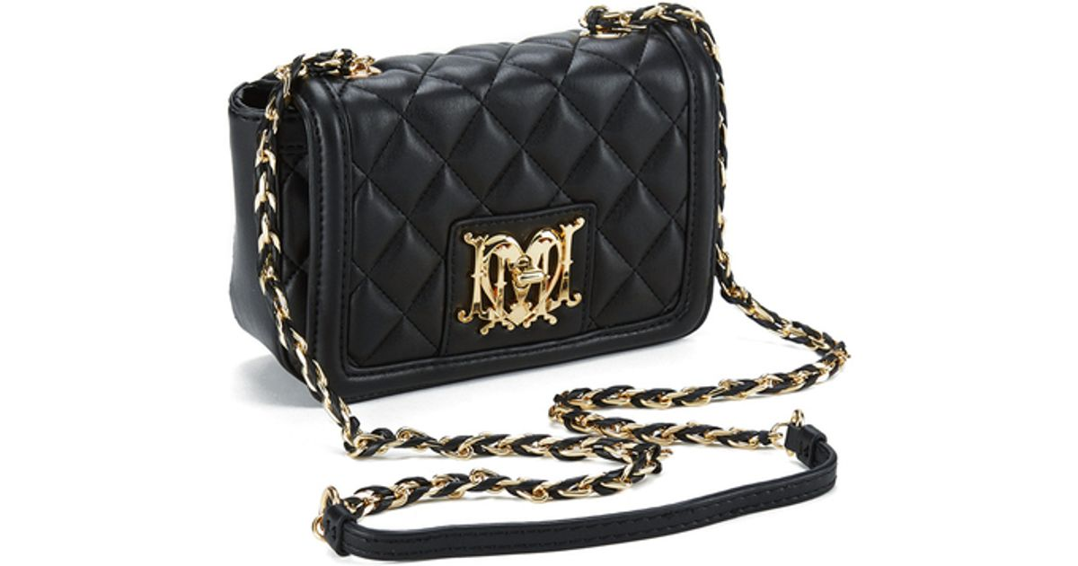 4cec4490e0bda Love Moschino Women s Quilted Small Cross Body Bag in Black - Lyst