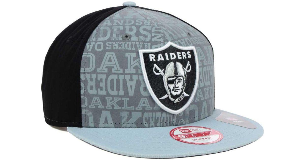 Lyst - KTZ Oakland Raiders Nfl Draft 9fifty Snapback Cap in Black for Men f06c7afd71d0
