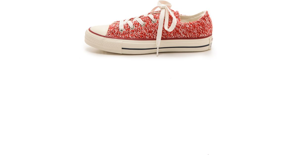 3844b43bd47a Converse Chuck Taylor All Star Winter Knit Sneakers - Firebrick Egret in  Red - Lyst