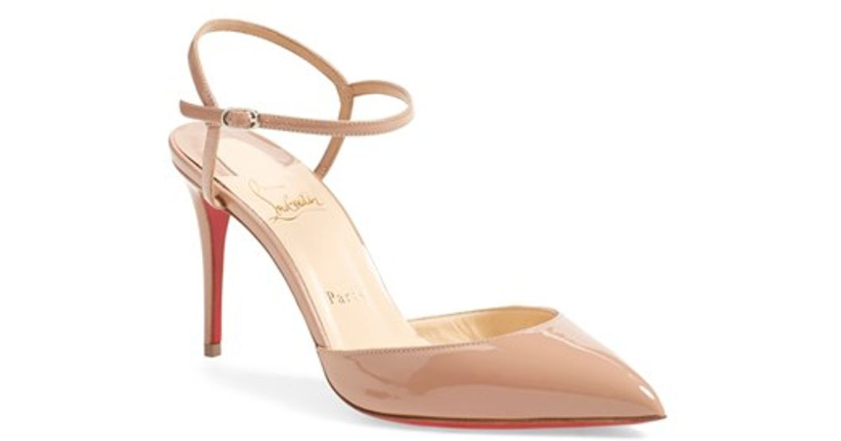 replica mens louboutin - Christian louboutin Rivierina Patent Leather Court Shoes in Beige ...