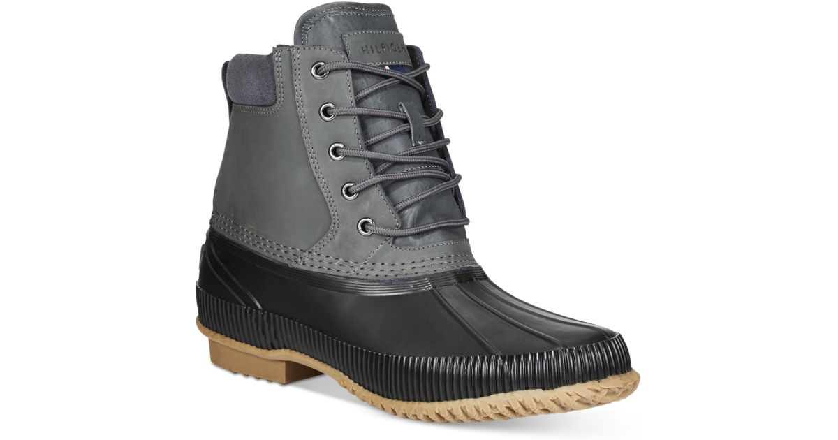 eb689fe3500bca Lyst - Tommy Hilfiger Charlie Duck Boots in Gray for Men