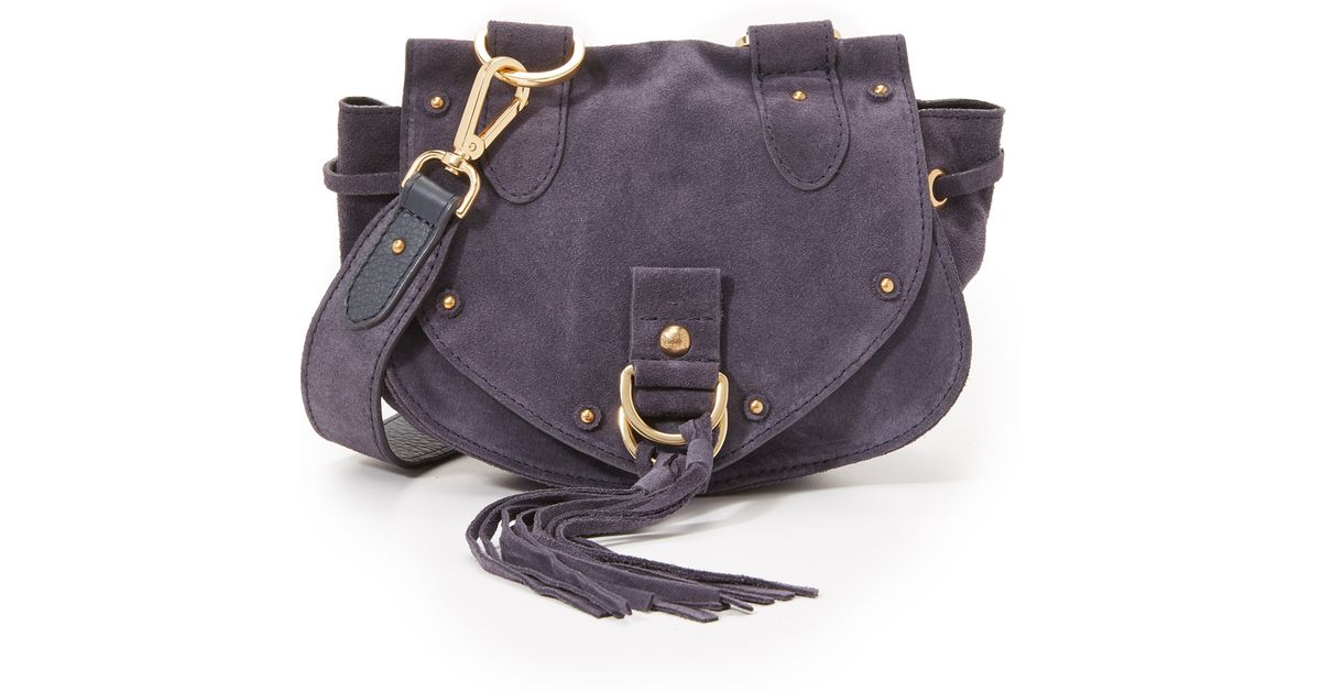 f51d17c38 See By Chloé Collins Mini Saddle Bag in Purple - Lyst