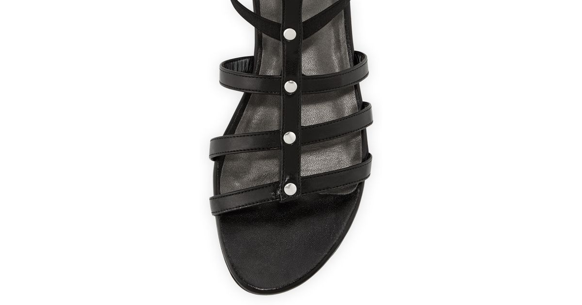9aa5364e827 Lyst - Stuart Weitzman Caesar Stretch Gladiator Sandal Black Made To Order  in Black