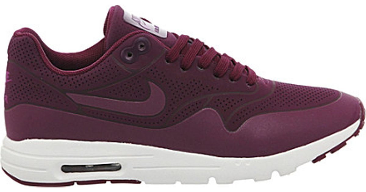 quality design 7984e 7b7f0 Nike Air Max 1 Ultra Moire Trainers, Women s, Size  5, Mulberry Purple in  Purple - Lyst