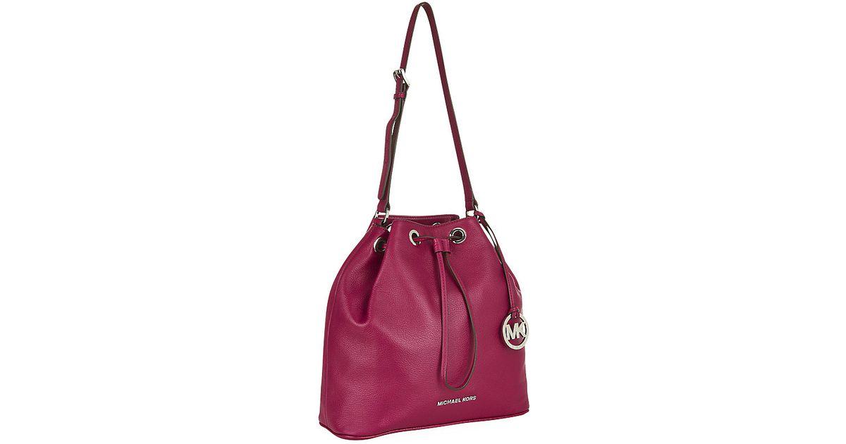 6d98f4529a24 Michael Michael Kors Jules Shoulder Bucket Bag in Purple - Lyst