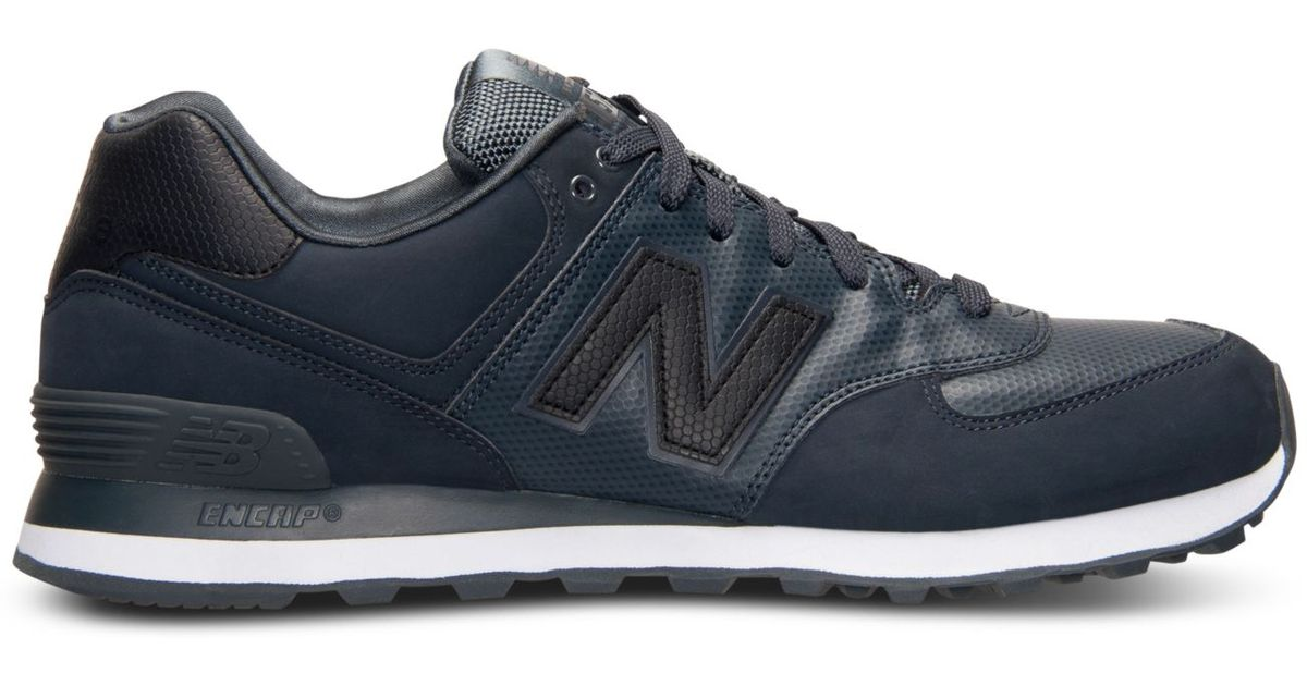 super popular 96c77 efcea Lyst - New Balance Men S 574 Stealth Casual Sneakers From Finish Line in  Gray for Men