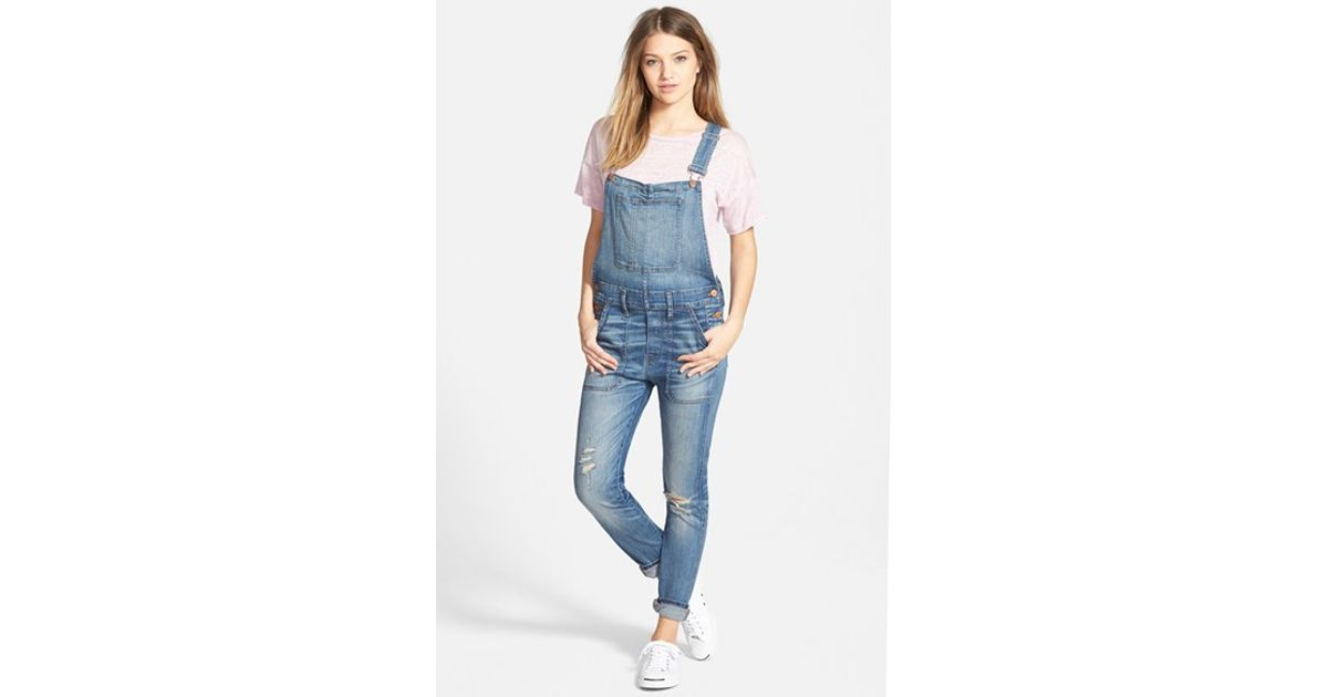 ff961ca6ac6 Lyst - Madewell Skinny Overalls in Blue