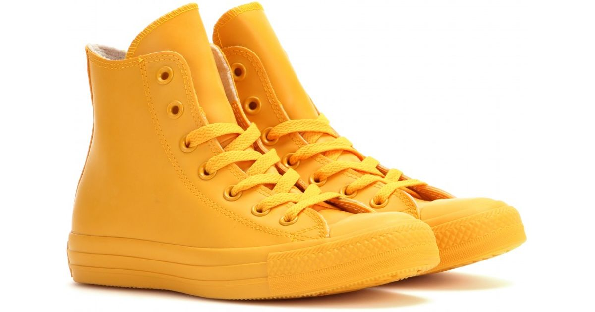 dc4e296ff9ab Lyst - Converse Chuck Taylor All Star Rubber High-Top Sneakers in Orange
