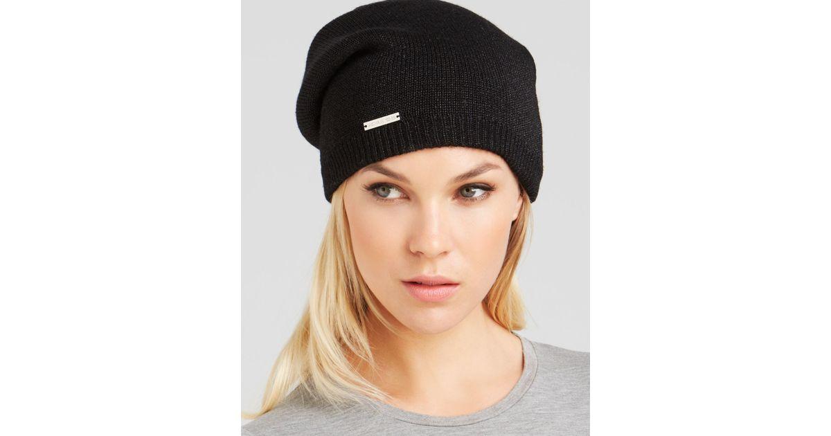 Lyst - Michael Kors Reversible Jersey   Lurex® Hat - Bloomingdale S  Exclusive in Black 71228dd72e5e