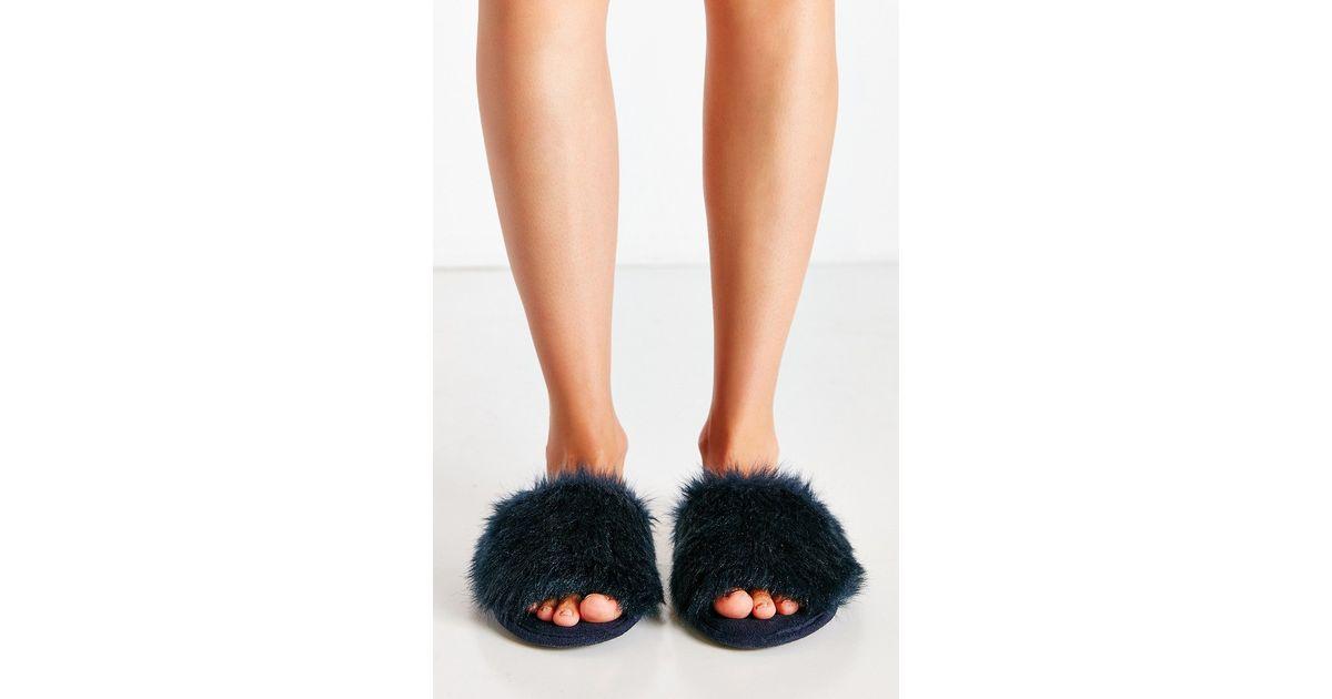 0d5c5091a34a Lyst - Urban Outfitters Dora Slide Slipper in Blue