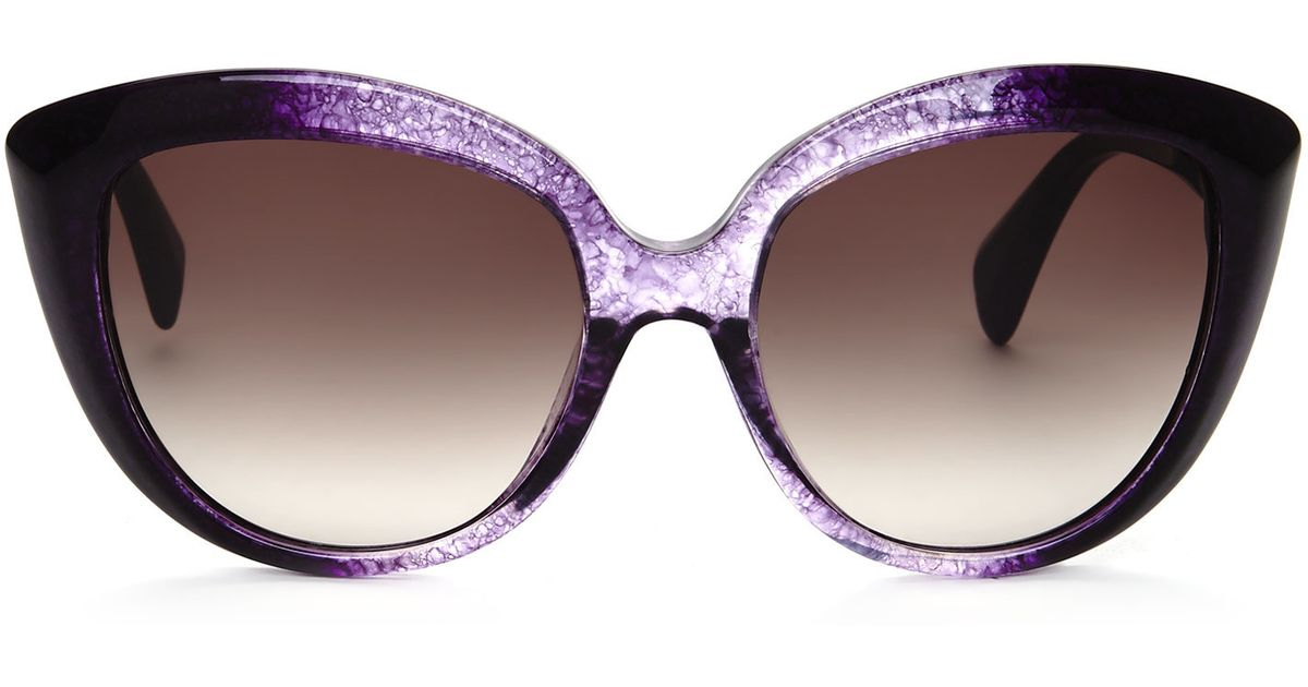 Alexander Mcqueen Cateye Sunglasses  alexander mcqueen purple ombr? amq 4234 xl cat eye sunglasses in